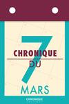 Livre numérique Chronique du 7  mars