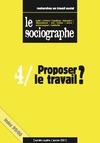 Livre numérique le Sociographe n°4 : Proposer le travail