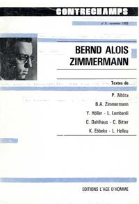 Livre numérique Bernd Alois Zimmermann