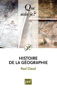 Histoire de la géographie, « Que sais-je ? » n° 65