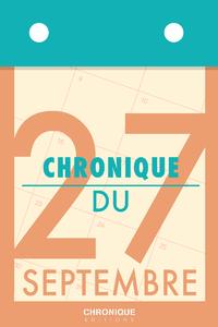Livre numérique Chronique du 27 septembre