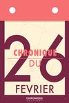 Livre numérique Chronique du 26  février
