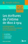 Livre numérique Les écritures de l'intime de 1800 à 1914 - Autobiographies, Mémoires, journaux intimes et correspondances
