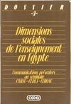Livre numérique Dimensions sociales de l'enseignement en Égypte