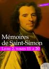 Livre numérique Mémoires de Saint-Simon, livre 2, tomes 11 à 20