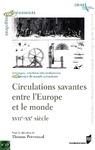 Livre numérique Circulations savantes entre l'Europe et le monde