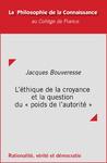 Livre numérique L'éthique de la croyance et la question du «poids de l'autorité»