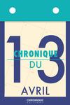 Livre numérique Chronique du 13  avril