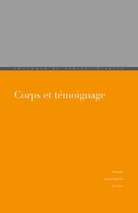 Livre numérique Corps et témoignage