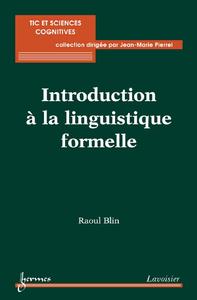 Livre numérique Introduction à la linguistique formelle