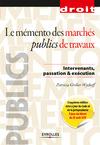 Livre numérique Le mémento des marchés publics de travaux