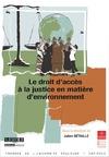 Livre numérique Le droit d'accès à la justice en matière d'environnement