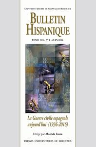 Bulletin Hispanique - Tome 118 - N°1 juin 2016