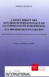 Livre numérique L'effet direct des accords internationaux de la Communauté européenne