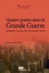 Livre numérique Quatre poètes dans la Grande Guerre