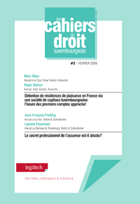 Cahier du droit luxembourgeois n?2