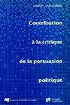 Livre numérique Contribution à la critique de la persuasion politique
