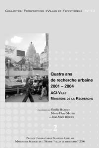 Livre numérique Quatre ans de recherche urbaine 2001-2004. Volume2