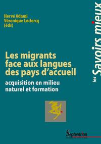 Livre numérique Les migrants face aux langues des pays d'accueil