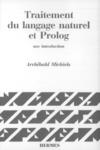 Livre numérique Traitement du langage naturel et prolog, une introduction (coll. Langue, raisonnement, calcul)