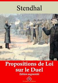 Propositions de loi sur le duel ? suivi d'annexes, Nouvelle édition 2019