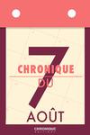Livre numérique Chronique du 7 août