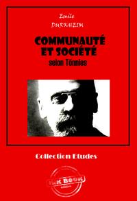 Communauté et société selon Tönnies
